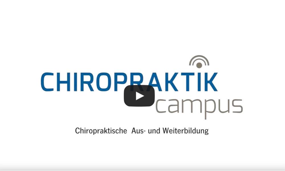 Chiropraktik Campus Video Ausbildung Chiropraktik