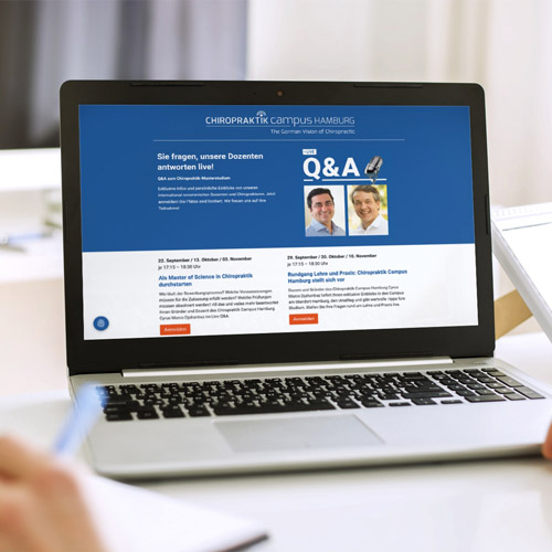 Chiropraktik Campus >> Q&A Webinare kostenlos